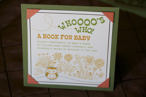 below custom interactive guest book so baby can identify family and