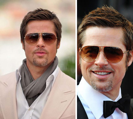 stylish sunglasses 2dms  Above: Trend setter, Brad Pitt rocks a semi-formal and formal look with the  same pair of sunglasses; Photo source: LaBelleEtLeBlog, HuffingtonPost,