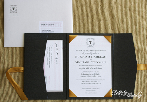 ems classy wedding invitations black white gold and blush - White And Gold Wedding Invitations