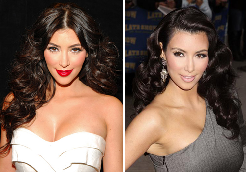 Photo Kim Kardashian has the all down hair style on lock